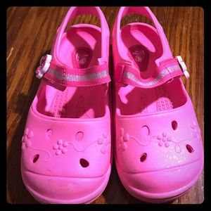 Pink Croc-style Girls Shoes